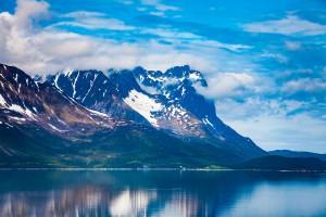Idyllic Norwegia Fjord
