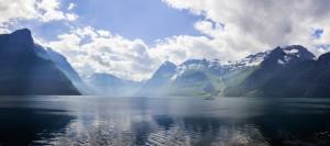 Hjorundfjord fjord in Norway